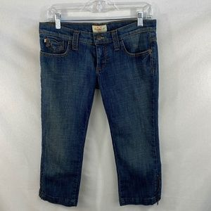 Frankie B. Cropped Jeans with Zipper Detail - 6
